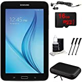 Samsung Galaxy Tab E Lite 7.0 8GB (Wi-Fi) Black 16GB microSD Card Bundle includes Tablet, Memory Card, Cleaning Kit, 3 Stylus Pens, Metal Ear Buds and Hardshell Case
