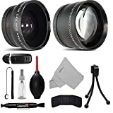 58MM Telephoto 2.2x and Wide Angle w/ Macro Close-Up Attachment Conversion Lens For EOS Rebel T6s, T6i, SL1, T6, T5, T5i, T4i, T3, T3i, T2i, T1i, 80D, 70D, 60D, 60Da, 7D, 5D, 5DS R, 1D DSLR