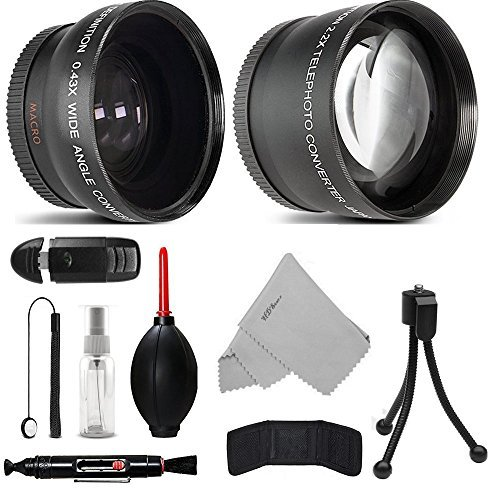 58MM Telephoto 2.2x and Wide Angle w/ Macro Close-Up Attachment Conversion Lens For EOS Rebel T6s, T6i, SL1, T6, T5, T5i, T4i, T3, T3i, T2i, T1i, 80D, 70D, 60D, 60Da, 7D, 5D, 5DS R, 1D DSLR by HDStars