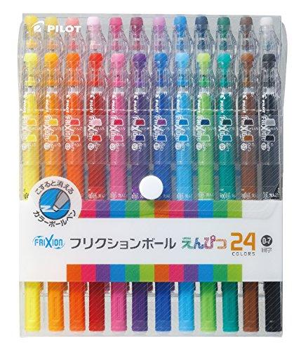- Pilot FriXion Pencil, 0.7mm Ballpoint Pen, 24 Colors Set, (LFP-312FN-24C)