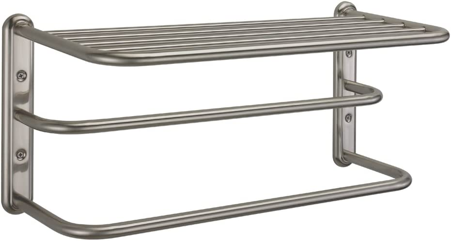 Gatco 1541SN 10-Inch by Max 86% OFF 20-Inch Branded goods Rack Towel Satin Nickel
