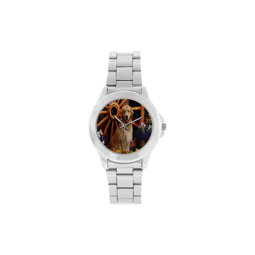 Christmas Gifts/Thanksgiving Day Gifts Summer Lovely Dogs Unisex Stainless Steel Watch