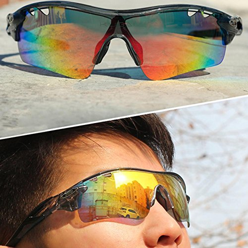 6b732e3563 Comaie Sunglasses Eyewear Men Women Bike Bicycle Glasses Goggles Polarized  Cycling Outdoor Sports for 5 Lens