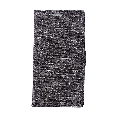 LG G4s Hülle,LG G4s Tasche,LG G4s Schutzhülle,LG G4s Hülle Case,LG G4s Leder Cover,Cozy hut [Burlap - Muster-Mappen-Kasten] echten Premium Leinwand Flip Folio Denim Abdeckungs-Fall, Slim Case mit Ständer Funktion und Identifikation-Kreditkarte Slots für LG G4s (5,2 Zoll) - grau