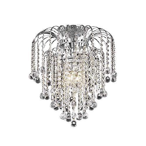 Elegant Lighting LD6802F16C Addison - Four Light Flush Mount, Chrome Finish with Royal Cut Crystal