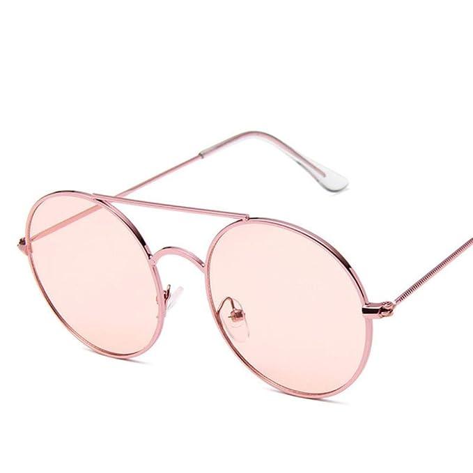 LIKEZZ Retro gafas de sol redondas Hombres Mujeres 2019 ...