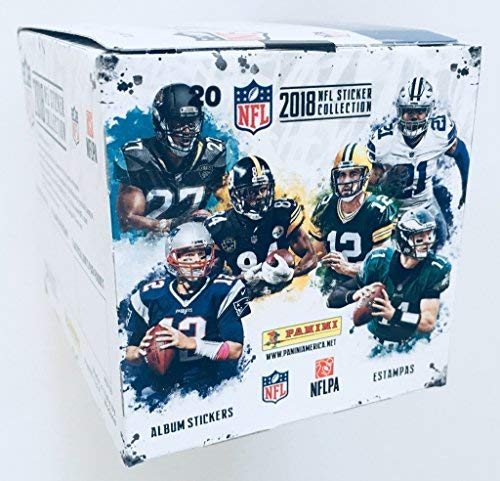 Panini 2018 NFL Football Sticker Box 50 Packs (250 Stickers)