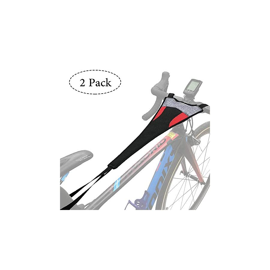 Thinvik 2 Pack Bike Frame Sweat Guard Sweat Absorbs Prevent Bicycle from Corrosion For Bicycle Trainer Indoor Cycling Training