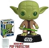 Funko Pop! Star Wars: Master Jedi Yoda with Lightsaber #02 Vinyl Bobble-Head Figure (Bundled with Pop Box Protector Case)