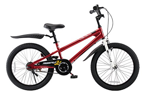 Royalbaby Freestyle Kid's Bike for Boys and Girls, 20 inch with Kickstand, Red (Kids Bike 20 Girls)