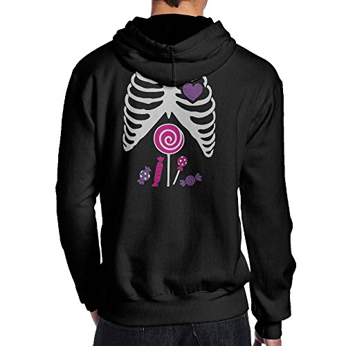 UDD0JJAX Mens Cute Skeleton Candy Rib-cage X-Ray Halloween Hiking Fashion Hoodie Hoodies Size S (Polaris Hurricane)