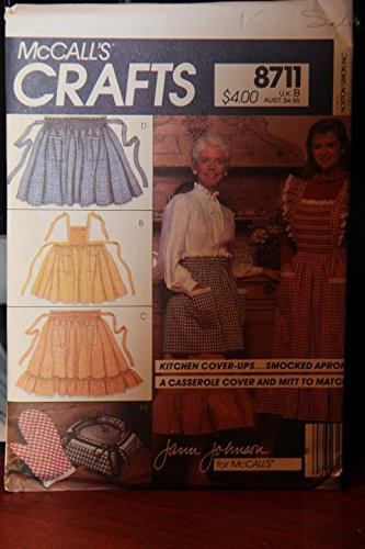 McCall's Crafts Pattern 8711 - Kitchen Cover-Ups, Smocked Aprons, A Casserole Cover And Mitt To (Smocked Cover)