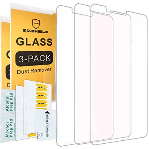 [3-Pack]-Mr.Shield for ZTEBladeZMax [Tempered Glass] Screen Protector with Lifetime Replacement