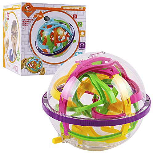 【最新モデル】3D 迷路ボール  ボール パズル 脳迷路ゲーム 子供 教育玩具 知育おもちゃピギーバンク 貯金箱