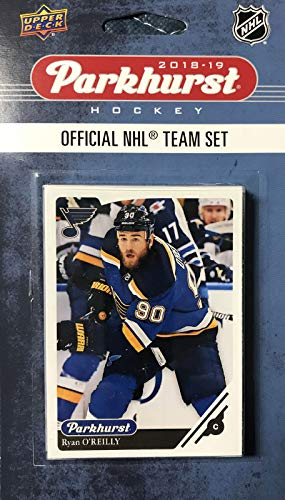 St. Louis Blues 2018 2019 Upper Deck PARKHURST Series Factory Sealed Team Set including Vladimir Tarasenko, Jaden Schwartz and Brayden Schenn Plus 7 Others