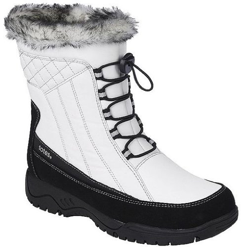 Totes Women's Eve White Ankle-High Synthetic Boot - 8M