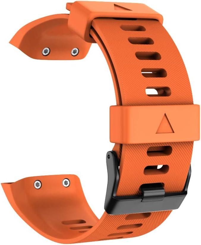 WIIKAI Cinturino Compatibile per Garmin Forerunner 35 Regolabile di Ricambio Bracciale.