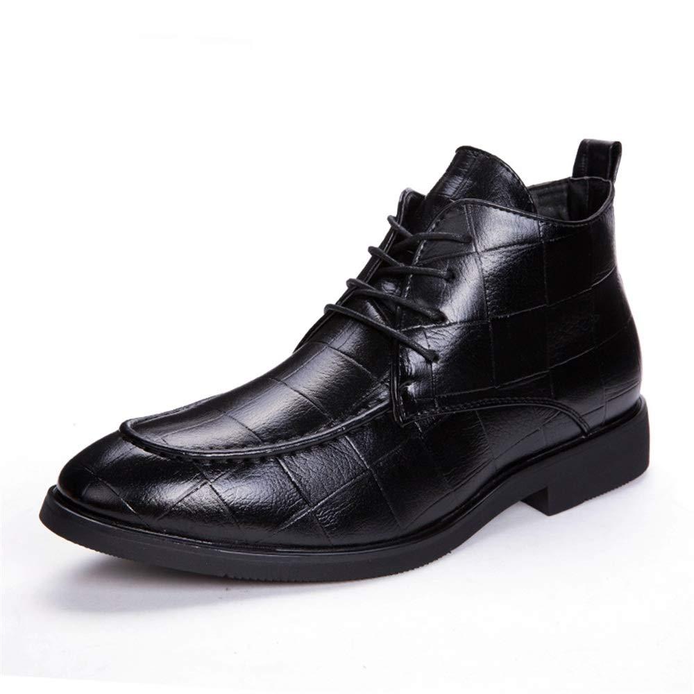 BND-schuhe , Herren Modische Ankle Work Stiefel Lässig Klassisch Geprägte Komfortable Außensohle High Top Stiefel dauerhaft; Standverschleiß (Farbe   Schwarz, Größe   39 EU)