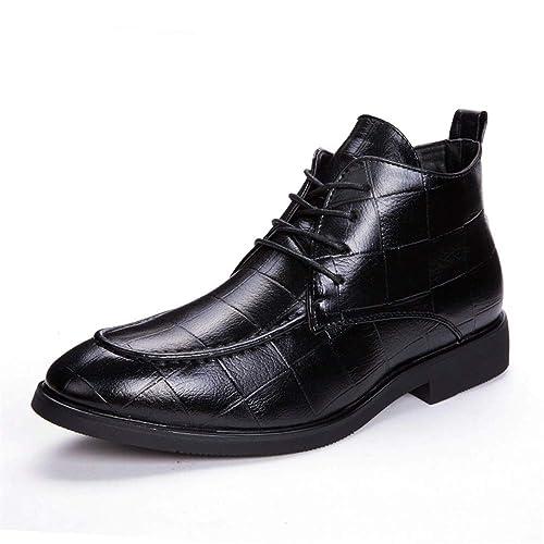 Apragaz Botas Formales de Vestir para Hombres, Botines con Cordones y Botines de Chelsea con