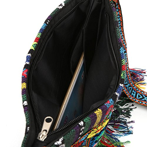 Vintage of Tassel Crossbody Hippie Embroidery Unique Bag Tote 2 Messenger Ethnic Mentin Pack Boho Shoulder OfEwq44