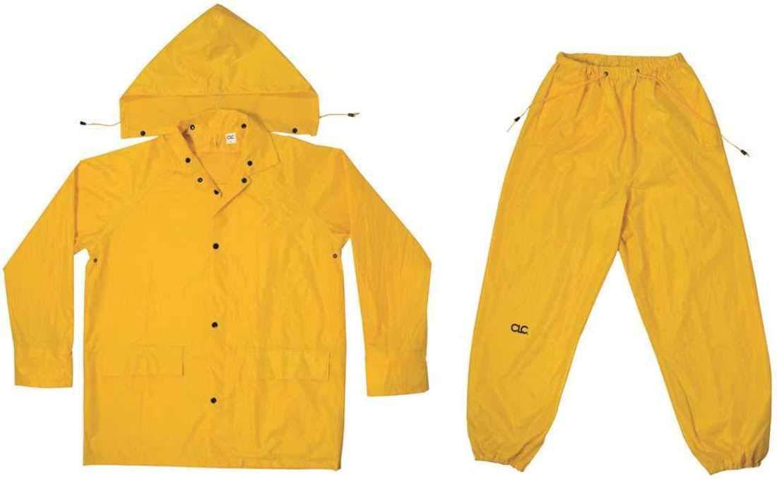 Custom LeatherCraft Manufacturing Co, Inc R102X Unisex X-Large Yellow Polyester Rain Suit