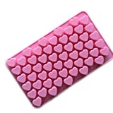 Xcellent Silicone mold Mini Heart Shape Silicone Ice Cube/Chocolate Mold Pink
