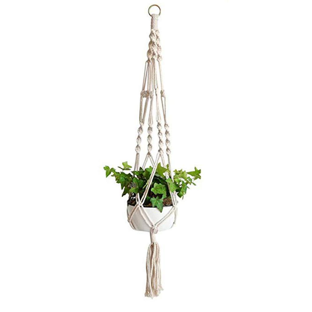 LAAT Macrame Plant Hanger Sturdy Plant Pot Holder Natural Jute Hemp Rope Flower Pot Plant Hanging Basket Holder Wall Hangings Home Decoration Balcony Ceiling Supplies