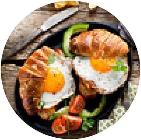 alfombrilla de ratón croissant desayuno y frito - ronda: Amazon ...