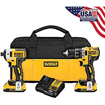 DEWALT 20V MAX XR Cordless Drill Combo Kit, Brushless, 5.0 ...