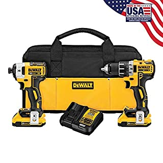 DEWALT DCK283D2 MAX XR Lithium Ion Brushless Compact Drill/Driver & Impact Driver Combo Kit, 20V (B01A08YKV6) | Amazon Products