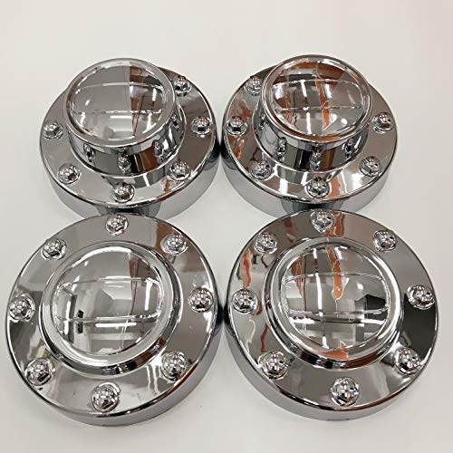 PPCovers New Replacement for 2011-2016 Ram 3500 Chrome Wheel Hub Center Caps Set 1-TON Dually DRW Alcoa Alloy Wheel 2 Front and 2 Rear
