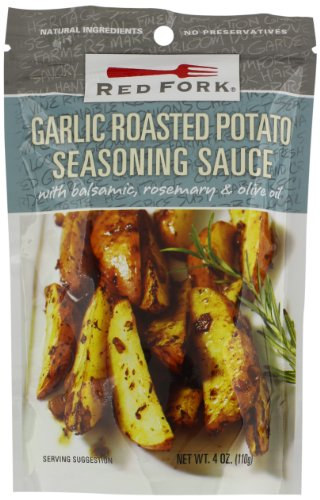 Red Fork Seasoning Sauce, Garlic Roasted Potato, 4 Ounce (Pack of 8) (Roasted Red Potatoes And Onion Soup Mix)