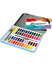 Watercolor Paint Set 48 Colors and Brush Pen with Water Brush Drawing Pencil and 8 Sheets Professional Watercolor Paper Watercolour Art Supplies Starter Kit for kids and adult