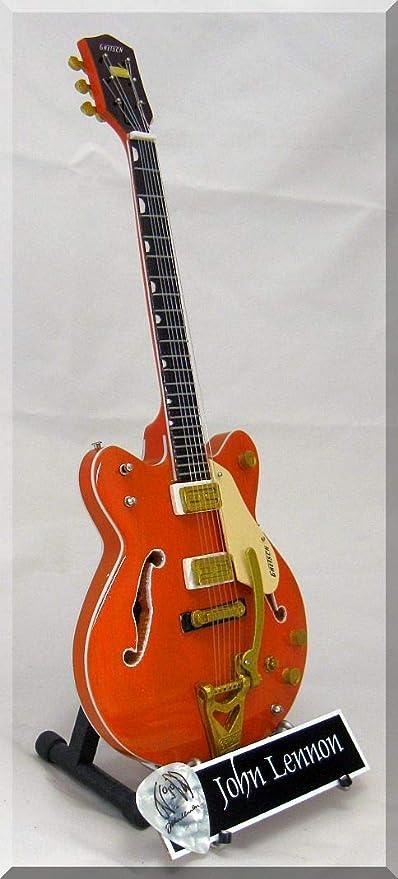 JOHN LENNON Guitarra miniatura con púa de guitarra GRETSCH 6120 ...