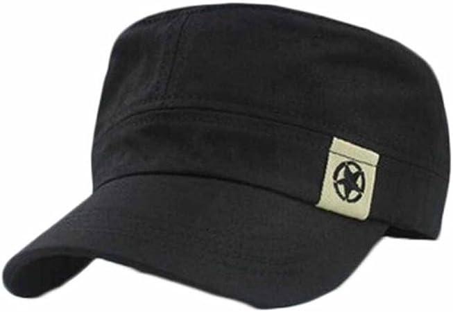 Hombres Béisbol Gorra Sombrero militar de techo plano Cadete ...