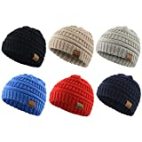 Baby Kids Knit Winter Warm Hats Boy Girl Infant Toddler Children's Beanie Caps 6 Pack A