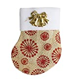 TWGONE Dinnerware Cover Christmas Sock Decoration Candy Bags Xmas Fork Tableware Bag(157cm,Gold)