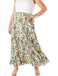d5215279129 Women s Plus Size Cotton Crinkled Maxi Skirt · Jessica London