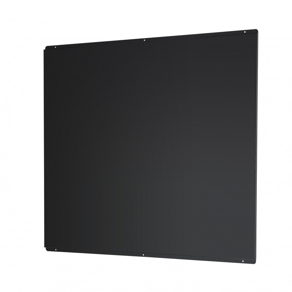 Universal Cookology SB1000BK Splashback to fit 100cm Flat Hood in Black Metal