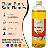 Liquid Paraffin Lamp Oil - Yellow Smokeless, Odorless, Ultra Clean Burning Fuel for Indoor and Outdoor Use - Highest Purity Available - 32oz - by Hyoola Candles