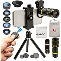 Godefa Cell Phone Camera Lens with Tripod+ Shutter...