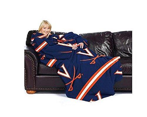 Northwest Virginia Cavaliers NCAA Adult Stripes Comfy Throw Blanket with - Ncaa Virginia Stripes Cavaliers