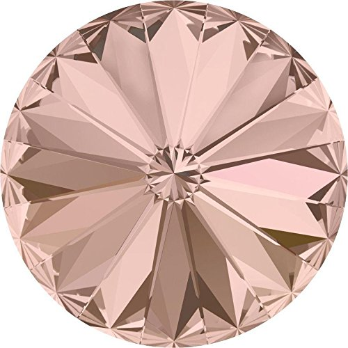 1122 Swarovski Chatons & Round Stones Rivoli Vintage Rose | 12mm - Pack of 4 | Small & Wholesale Packs | Free Delivery (Swarovski Chaton Rose)