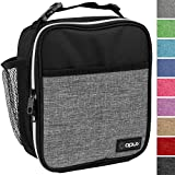 Premium Thermal Insulated Heather Gray Mini School Lunch Bag by OPUX   Lunch