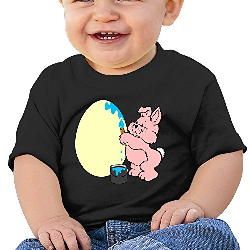 Chengrangst A Rabbit Is Drawing Eggs Toddler/Infant Short Sleeve Cotton T Shirts Black 24 Months - Grinch Drawing