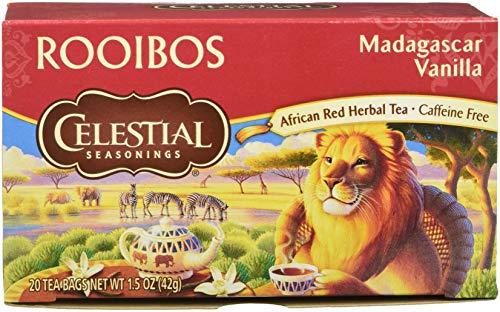 Celestial Seasonings Madagascar Vanilla Red Tea Bags - 20 ct - Sugar Free Vanilla Tea