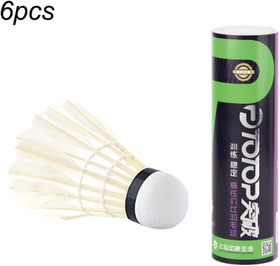 Fancysweety 6pcs//set Professional Badminton Set for Competition Gaming Shuttlecock for Indoor Outdoor Sports Tournament