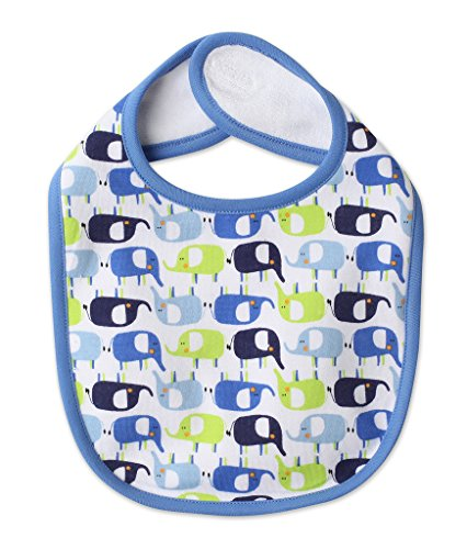 (Zutano Baby Bib- Enzos Elephants, One Size)