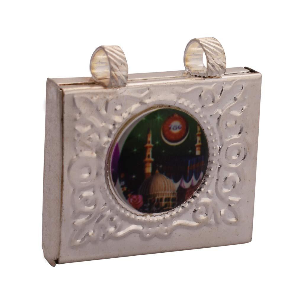 Amazon com: iCraftJewel Silver Spiritual Taweez Case, Locket, Amulet
