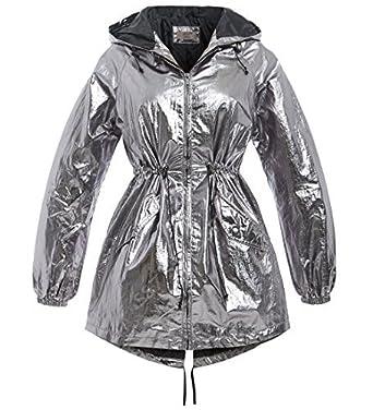 good quality Good Prices 100% genuine SS7 Womens Silver Metallic Rain Mac Showerproof Raincoat ...